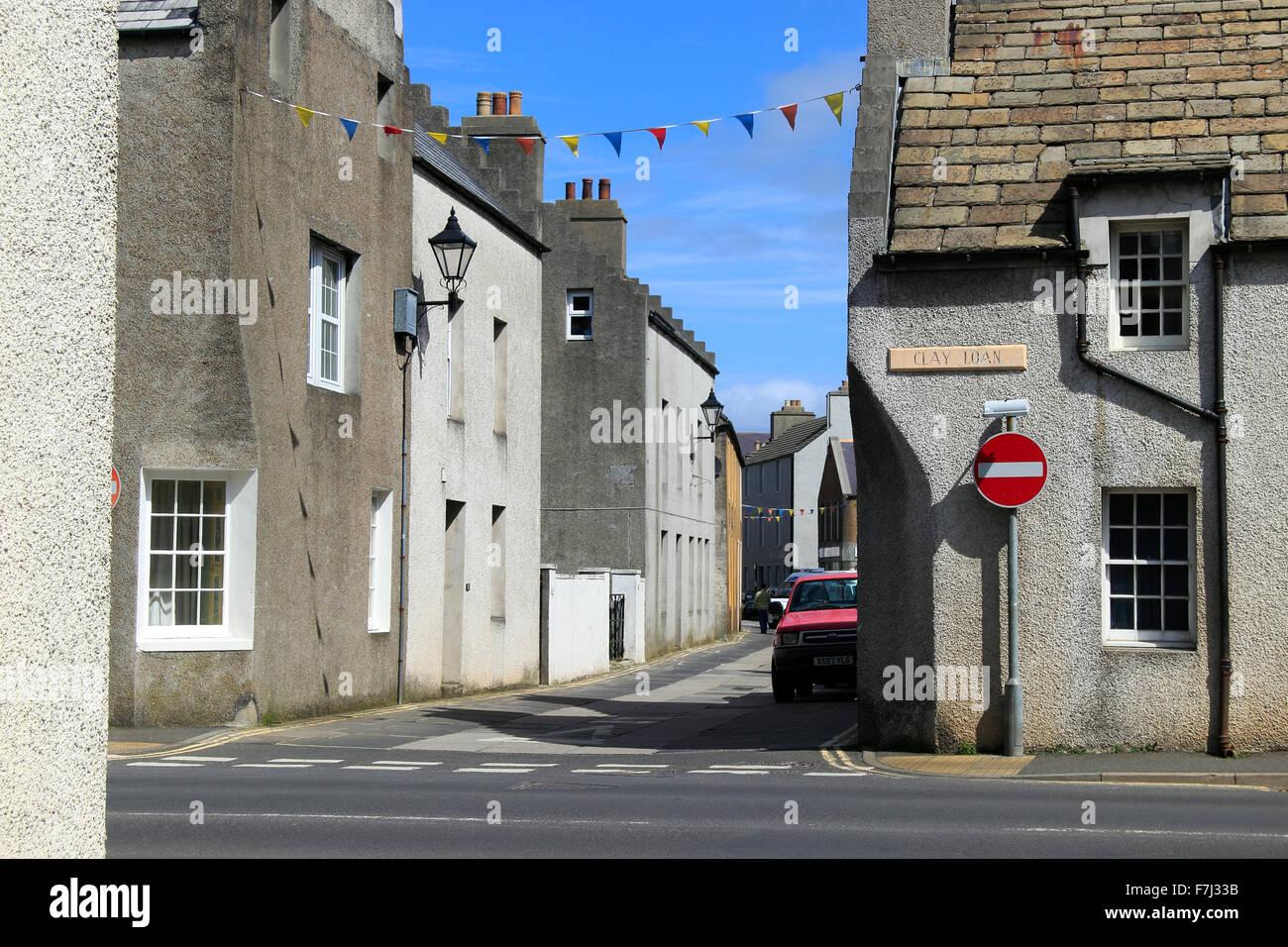 Clay Loan and Union Street looking towards Victoria Street Kirkwall Orkney Islands Scotland UK - Stock Image