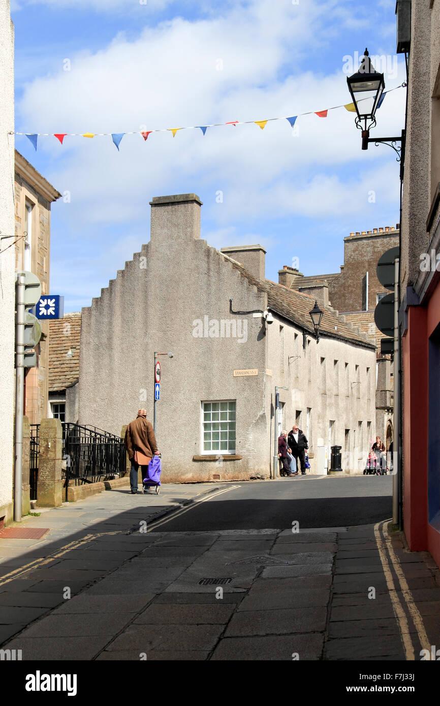 Victoria Street looking towards Broad Street Kirkwall Orkney Islands Scotland UK Stock Photo