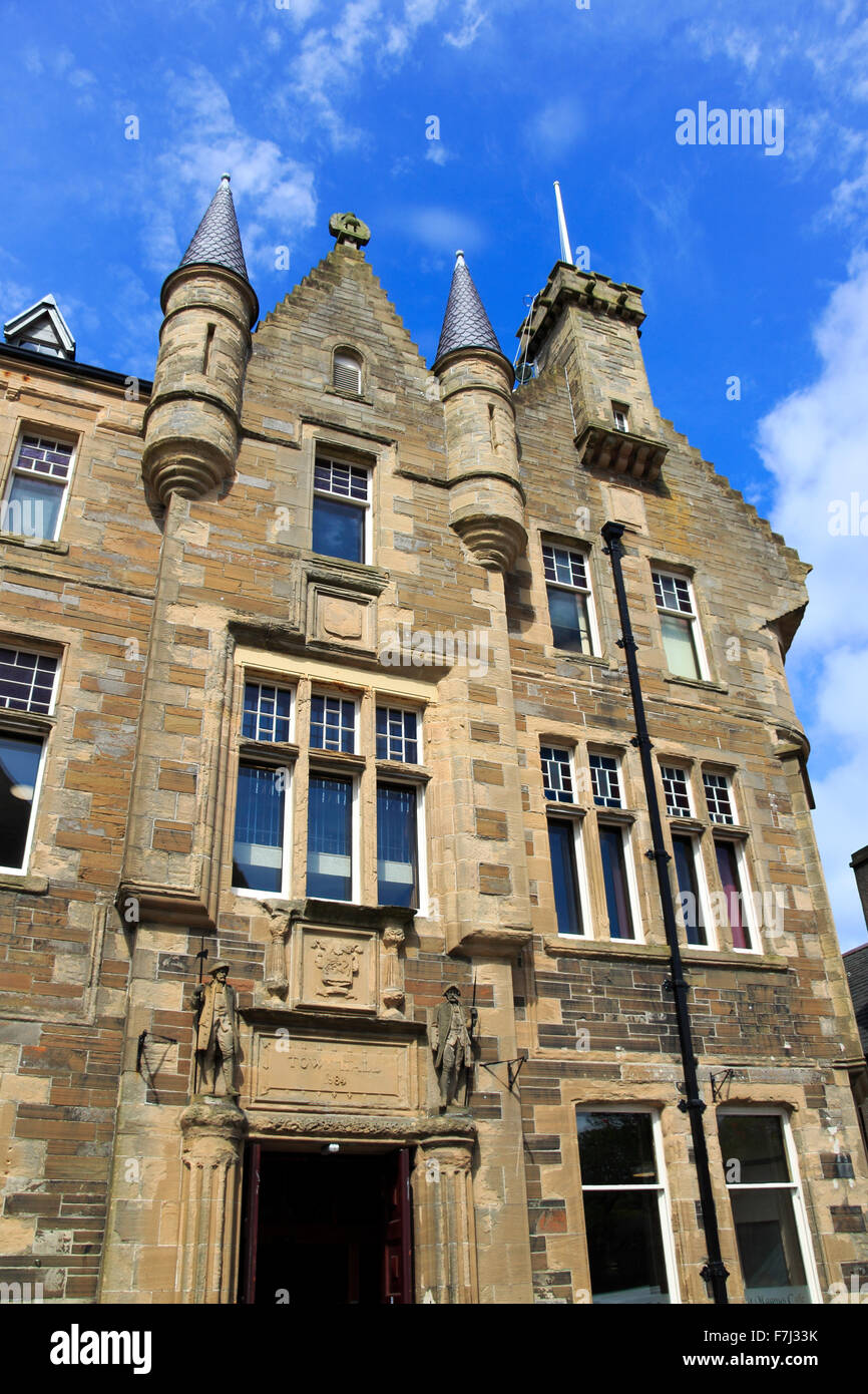 Kirkwall Town Hall exterior Broad Street Orkney Islands Scotland UK - Stock Image