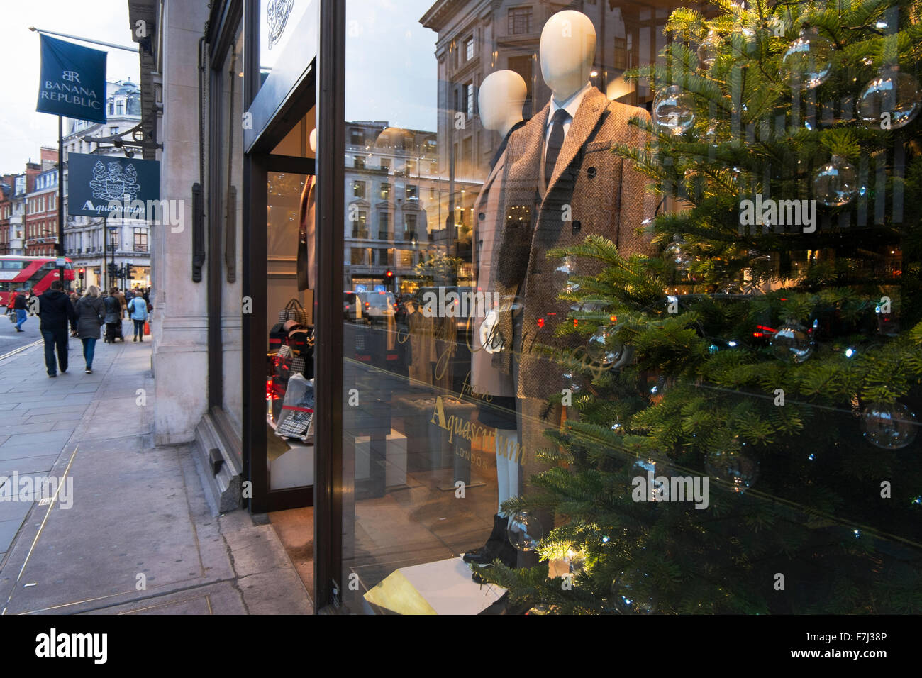 The window display of clothes shop Aquascutum in Great Marlborough Street cdf5055b37f