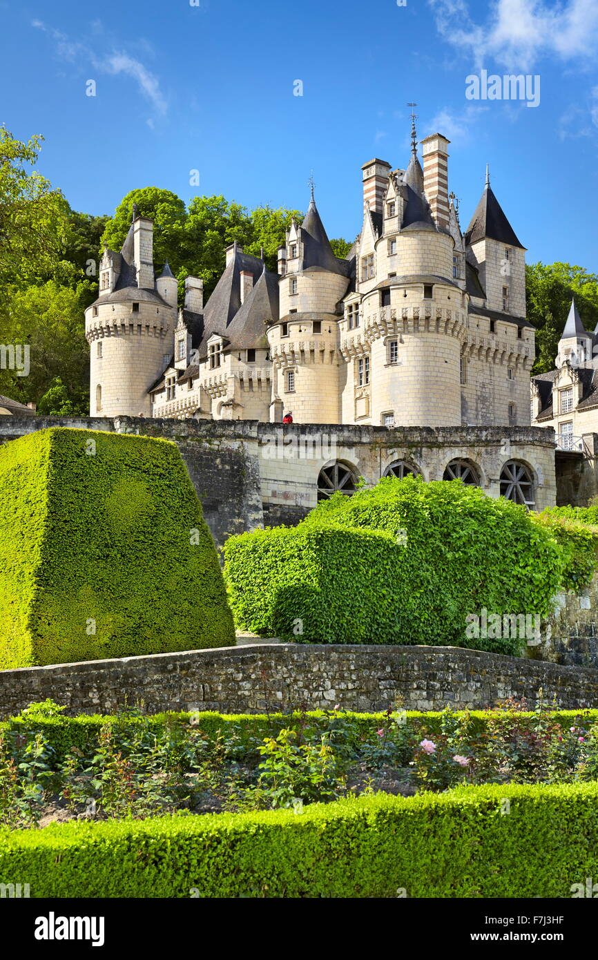 Usse Castle, Usse, Loire Valley, France - Stock Image