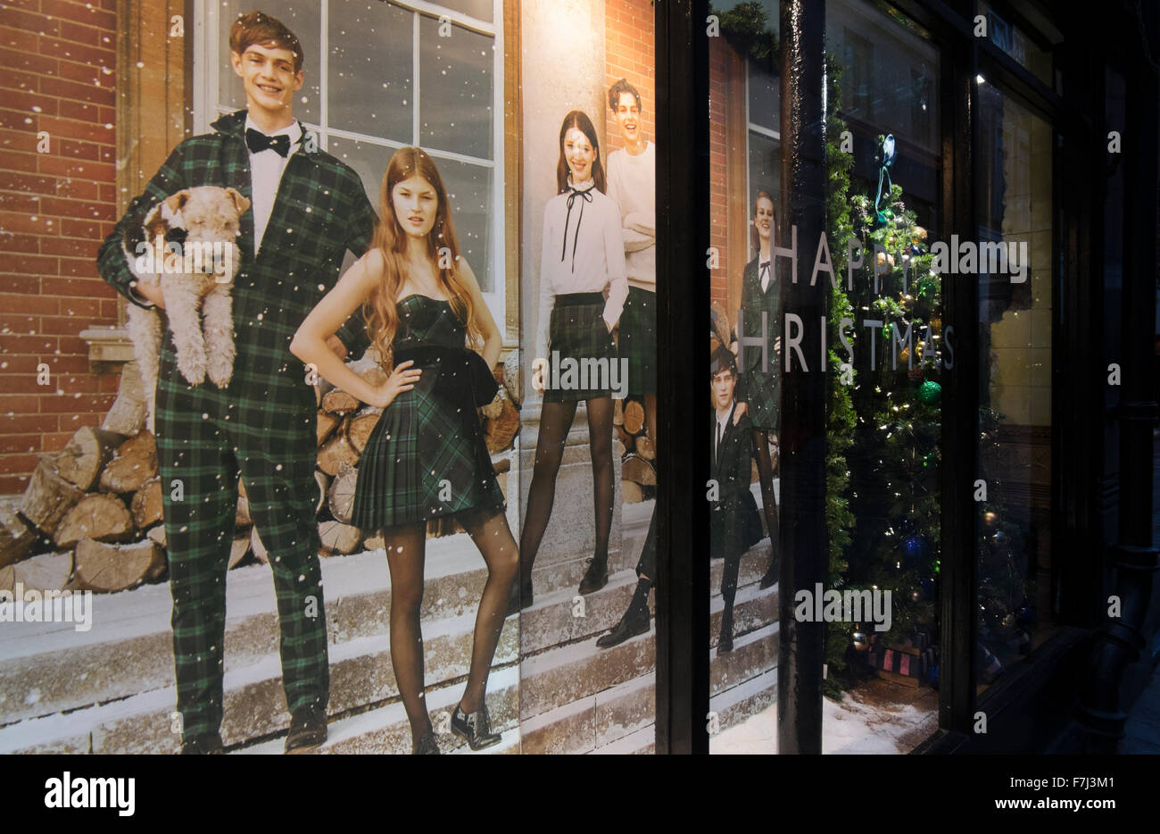 The windows display of clothes shop Jack Wills in Kingly Street, London, England, UK - Stock Image
