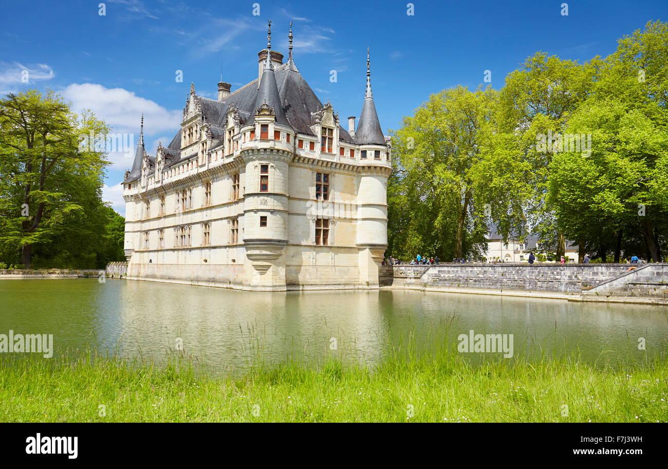 Loire Valley - D'Azay-le-Rideau Castle, France - Stock Image
