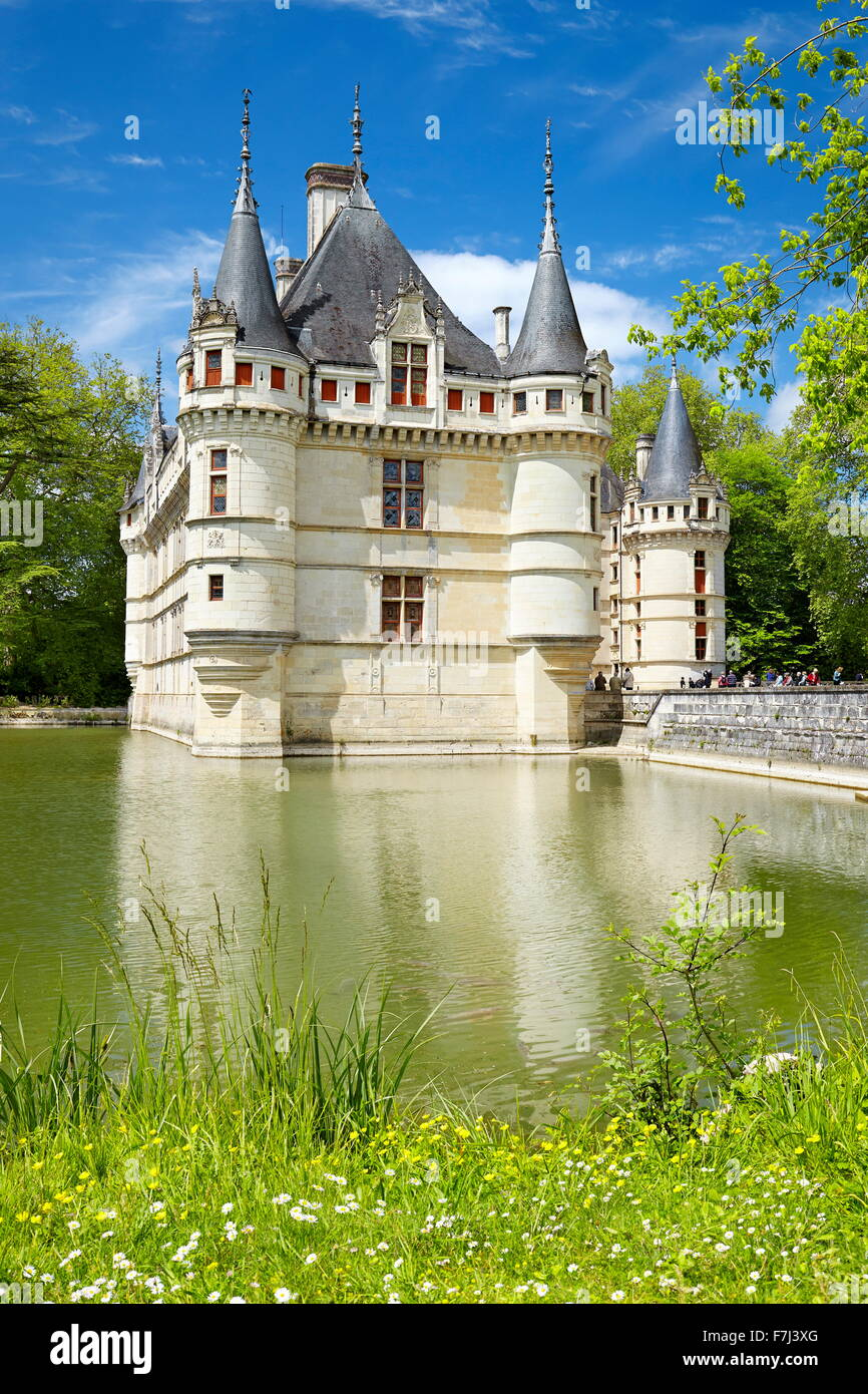 D'Azay-le-Rideau Castle, Loire Valley, France - Stock Image