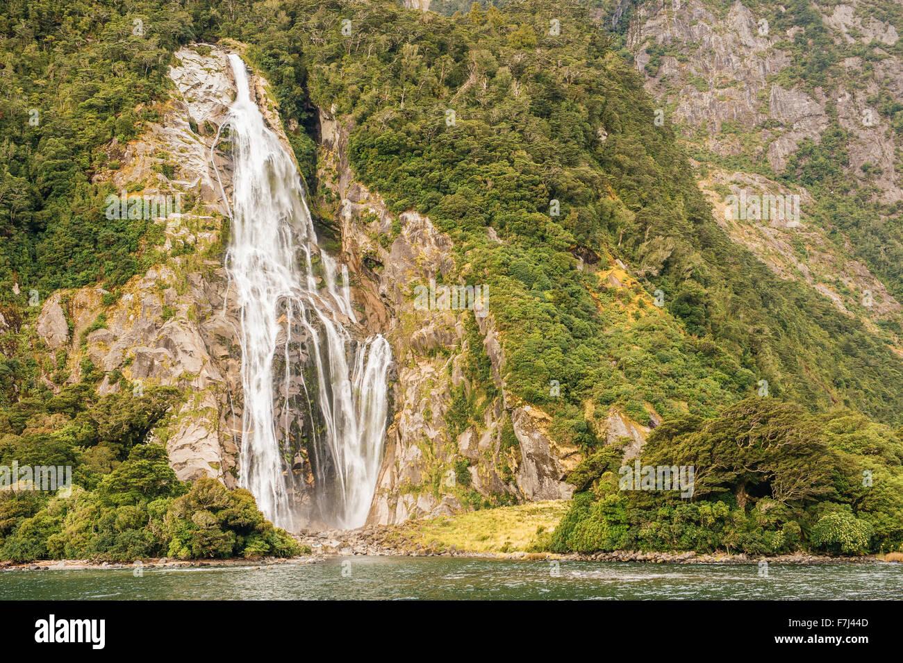 Milford sound, Fiordland National Park, South Island, New Zealand - Stock Image