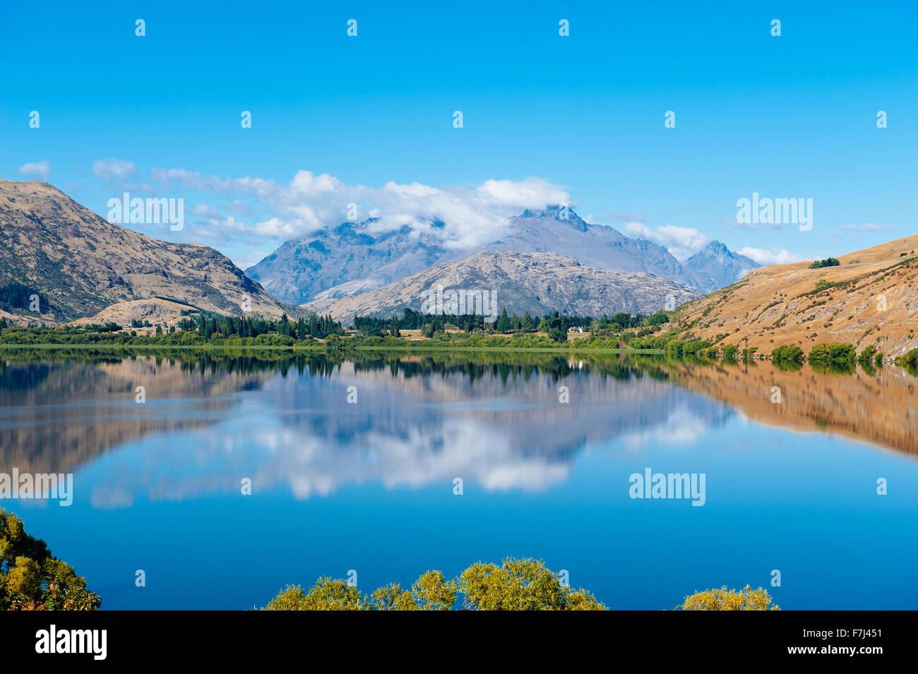 Lake Hayes, South Island, New Zealand - Stock Image