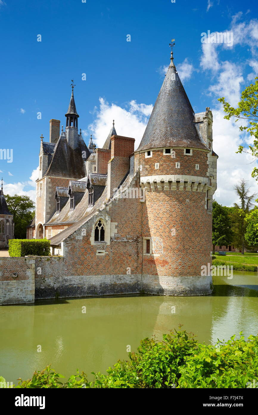 Castle du Moulin, Loire Valley, France - Stock Image
