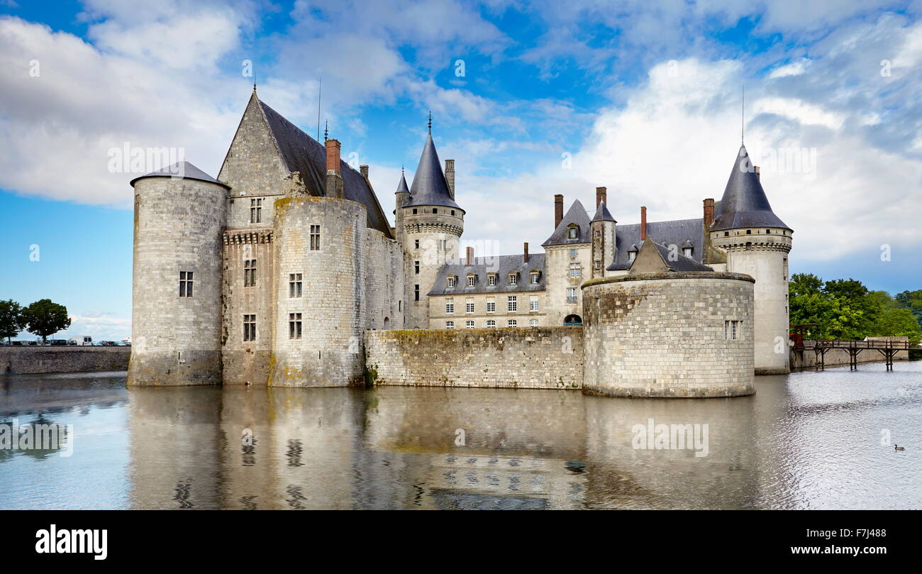 Sully Castle, Loire Valley, France - Stock Image