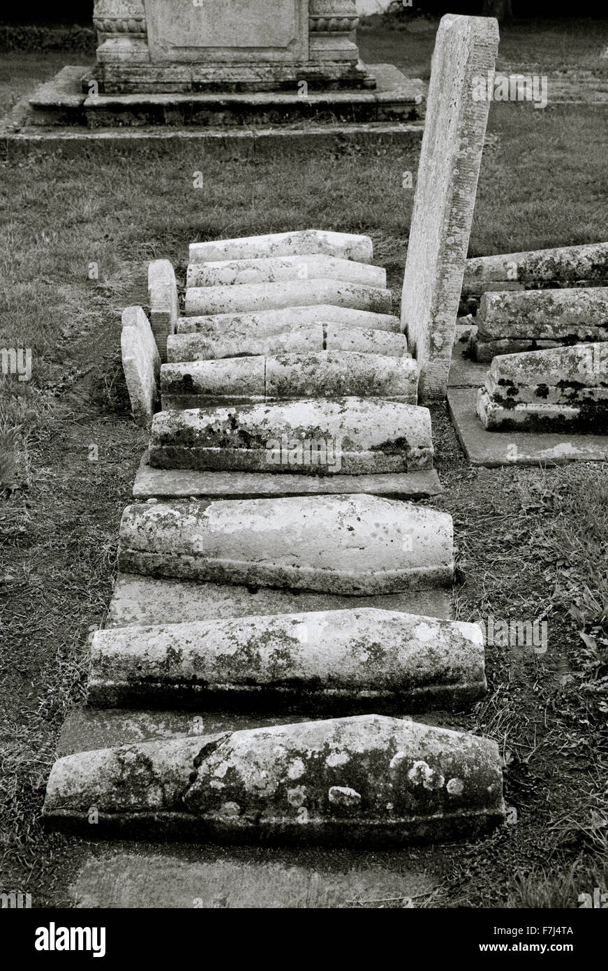 Charles Dickens' child graves in St James graveyard in Cooling in Kent in England in Britain in the United Kingdom. - Stock Image