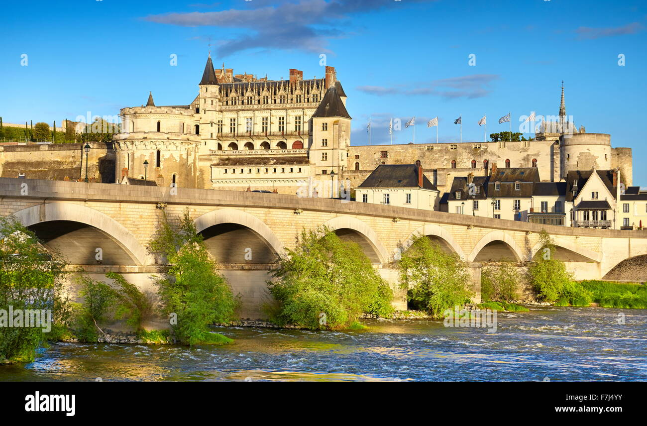Amboise Castle, Loire Valley, France - Stock Image
