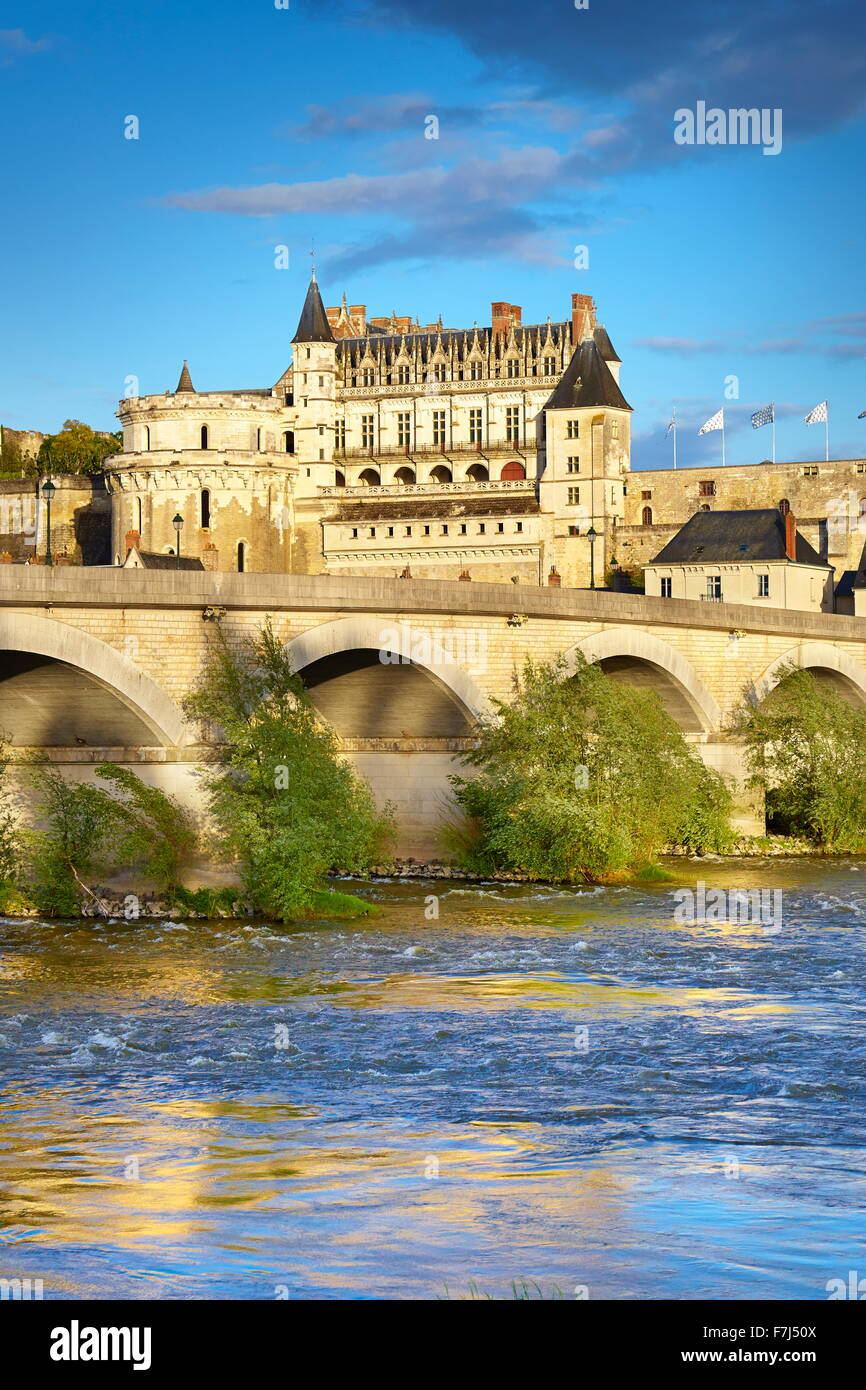 Loire Castle - Amboise Castle, Loire Valley, France - Stock Image