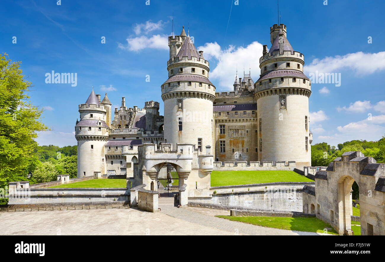 France - Pierrefonds Castle, Picardie (Picardy) - Stock Image