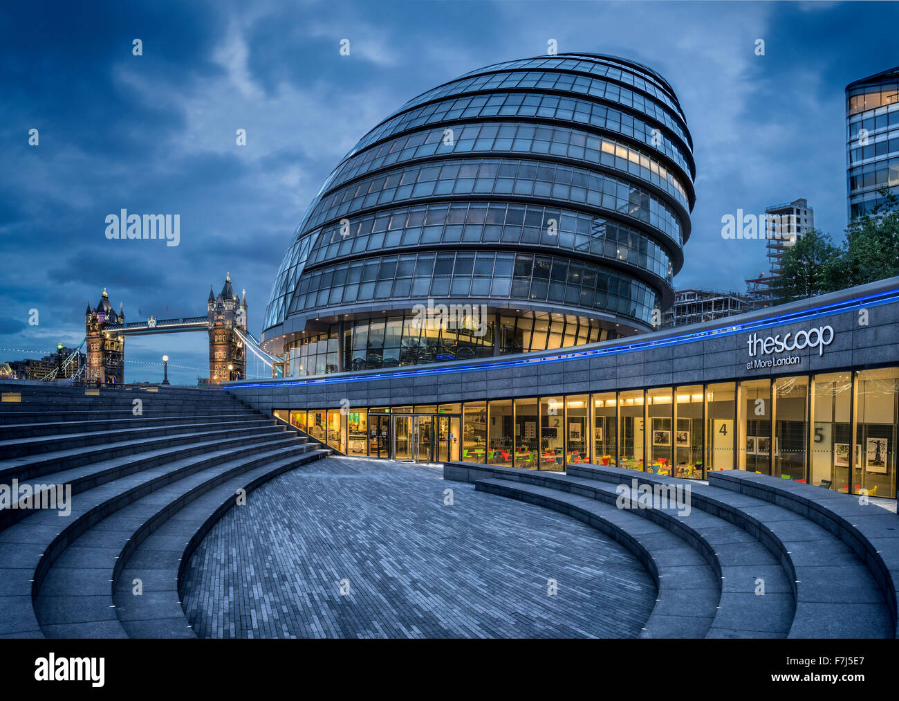 City Hall, London, England, UK - Stock Image