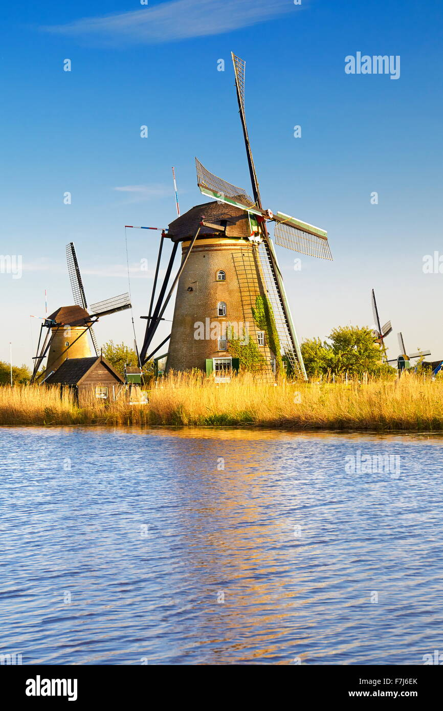 Kinderdijk windmills - Holland Netherlands - Stock Image
