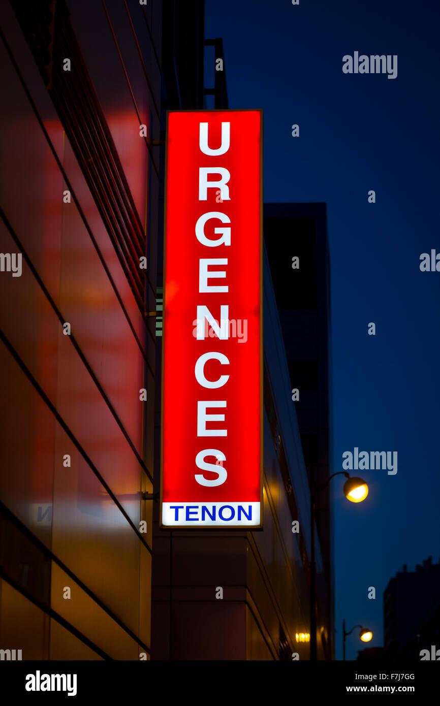EMERGENCY WARD SIGN - Stock Image
