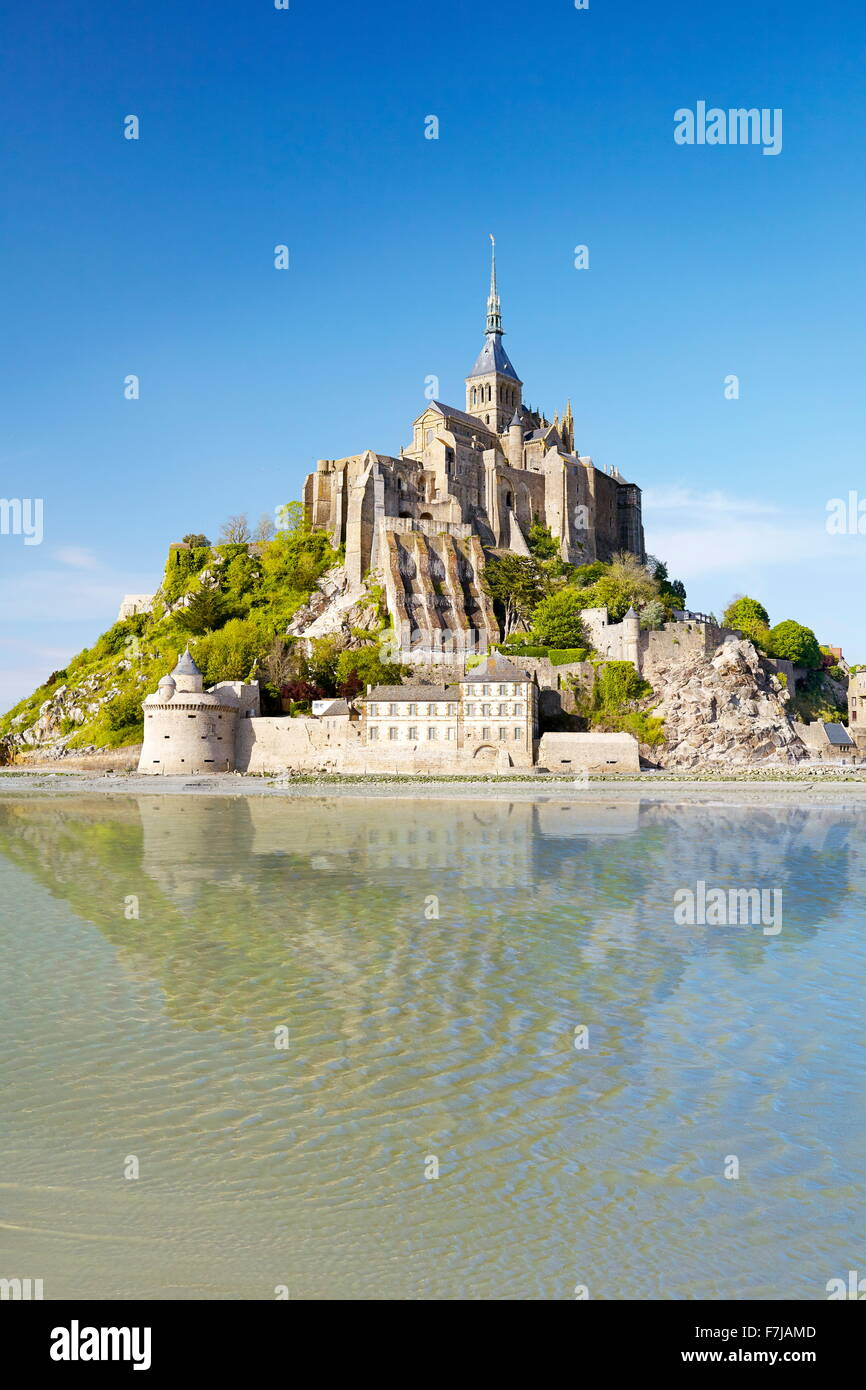 Mont Saint Michel, Normandy, France - Stock Image