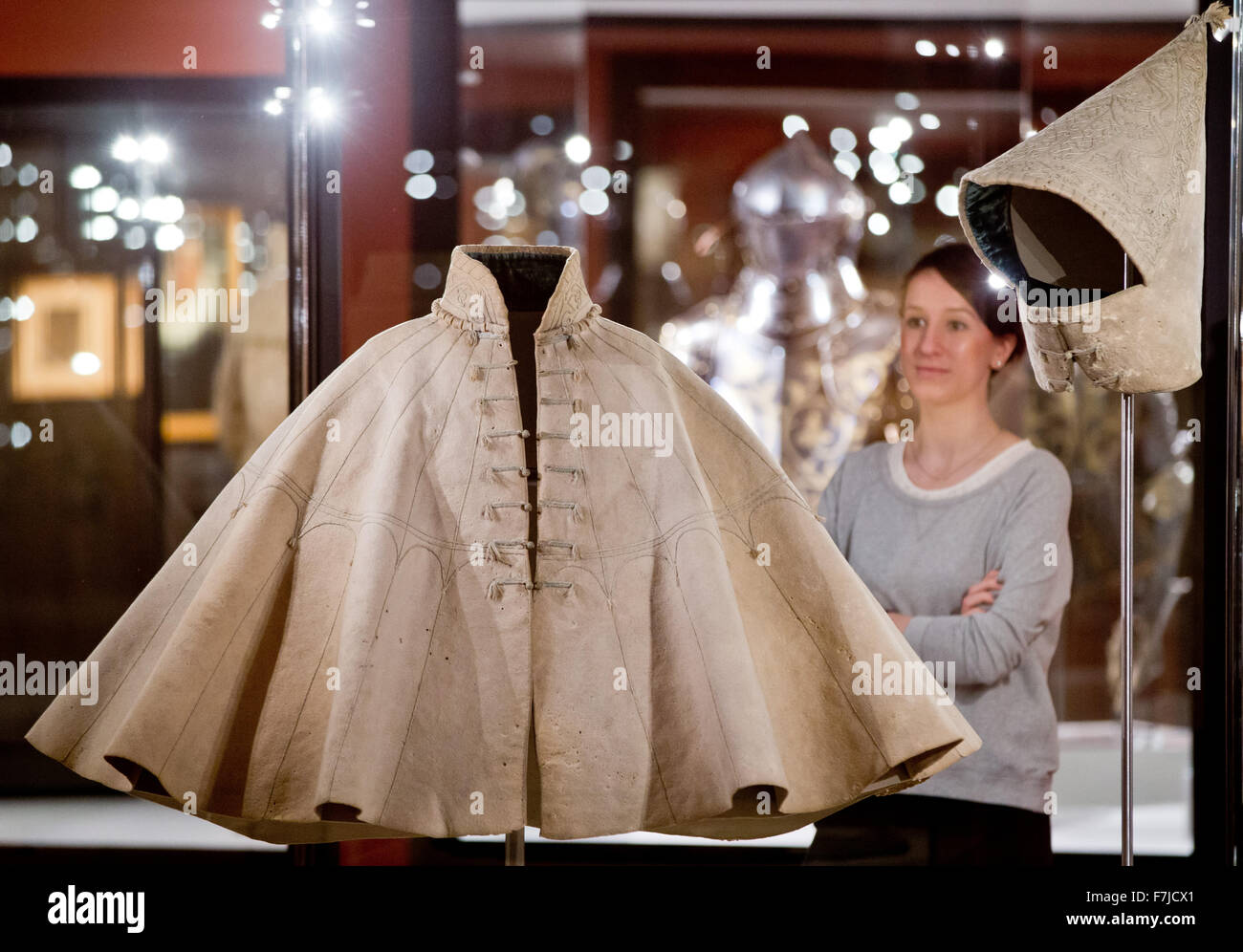 nuremberg, germany. 01st dec, 2015. a coat featuring a hood