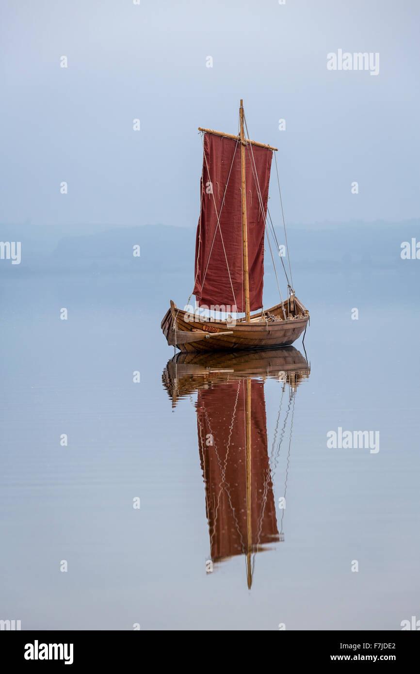 Frigg, replica Viking ship, Tissø, Denmark, Scandinavia, Europe - Stock Image