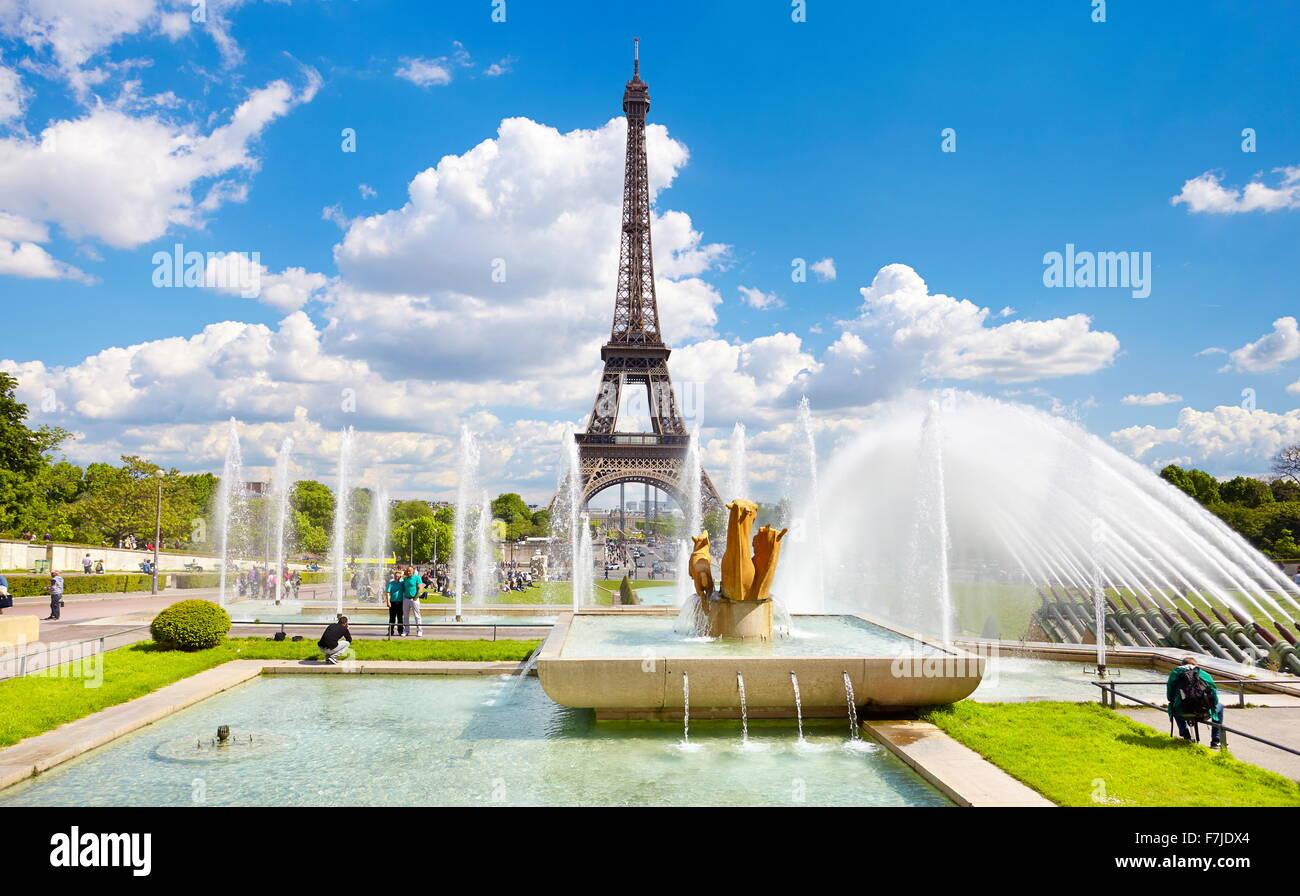 Eiffel Tower, Paris, France - Stock Image