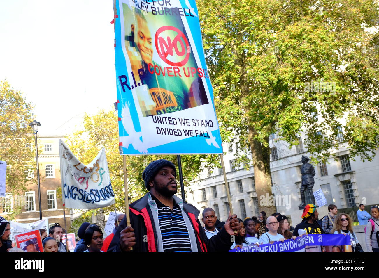The United Families and Friends Campaign (UFFC), a coalition of those affected by deaths in police, prison, and - Stock Image