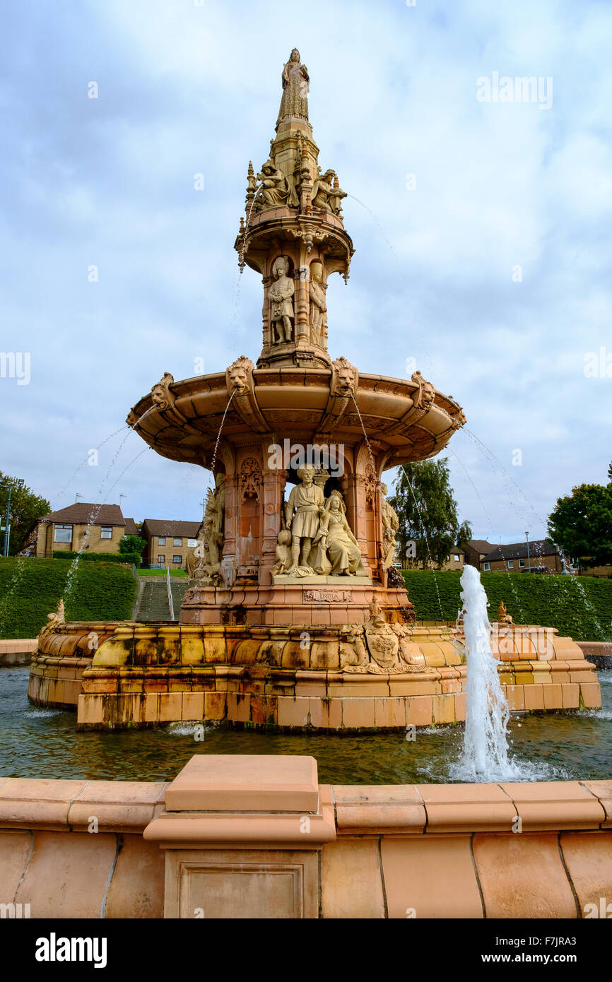 british commonwealth statue fountain glasgow uk - Stock Image