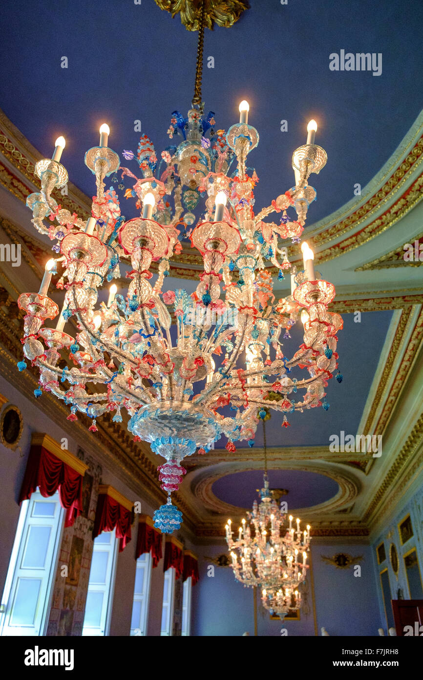 Murano glass chandelier stock photos murano glass chandelier stock murano venetian coloured glass chandeliers stock image mozeypictures Gallery