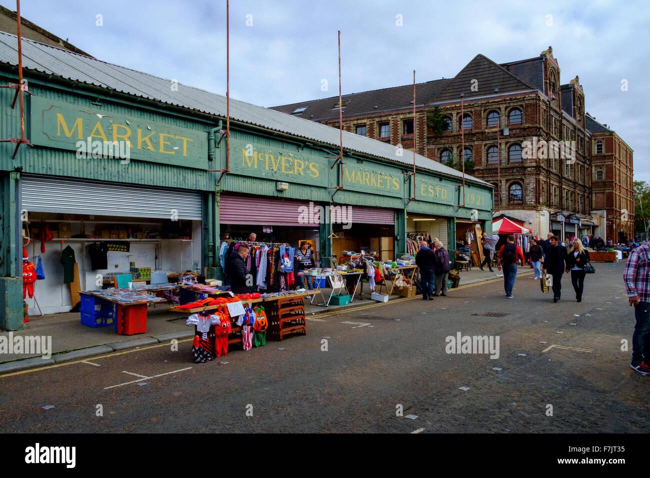 mcivers mc ivers market markets glasgow scotland - Stock Image