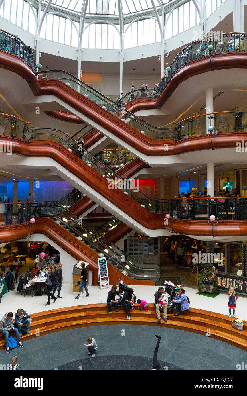 Princes Square shopping mall, Glasgow - Stock Image