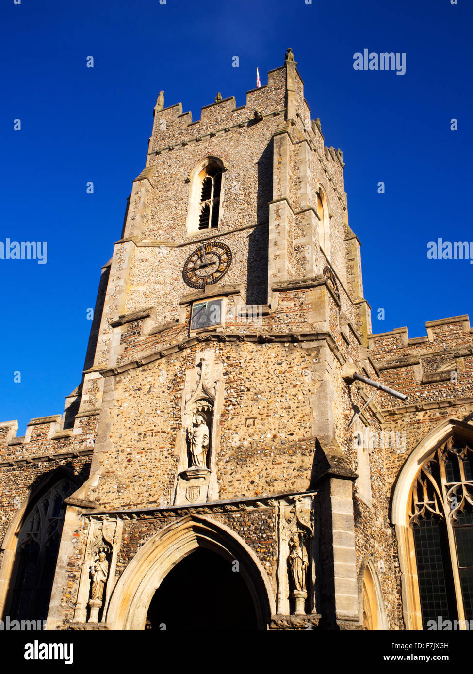 St Peters Redundant Church on Market Hill in Sudbury Suffolk England - Stock Image