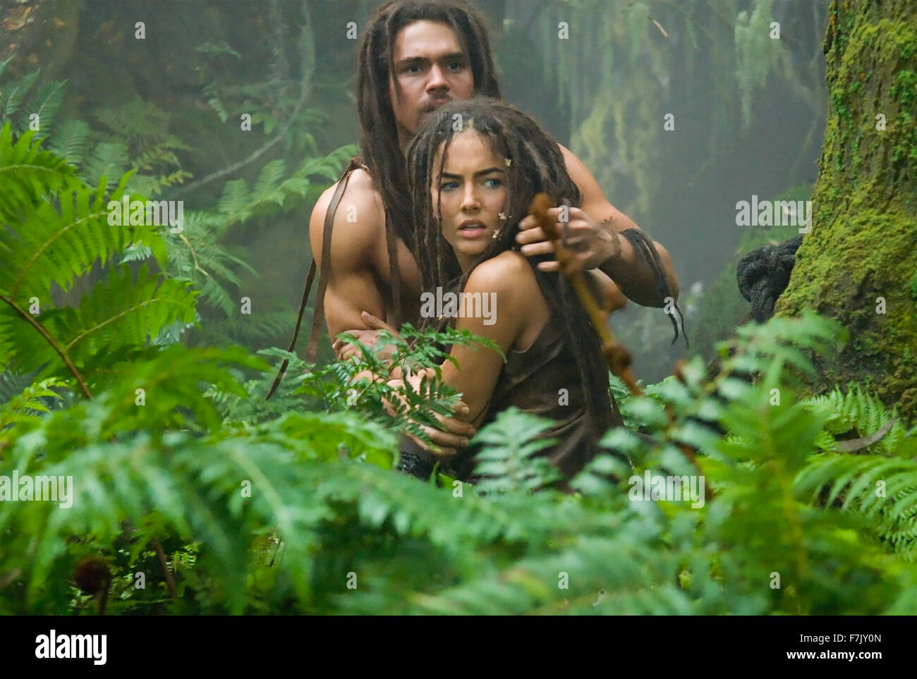 10,000 BC 2008 Warner Bros film with Camilla Belle and Steven Strait - Stock Image