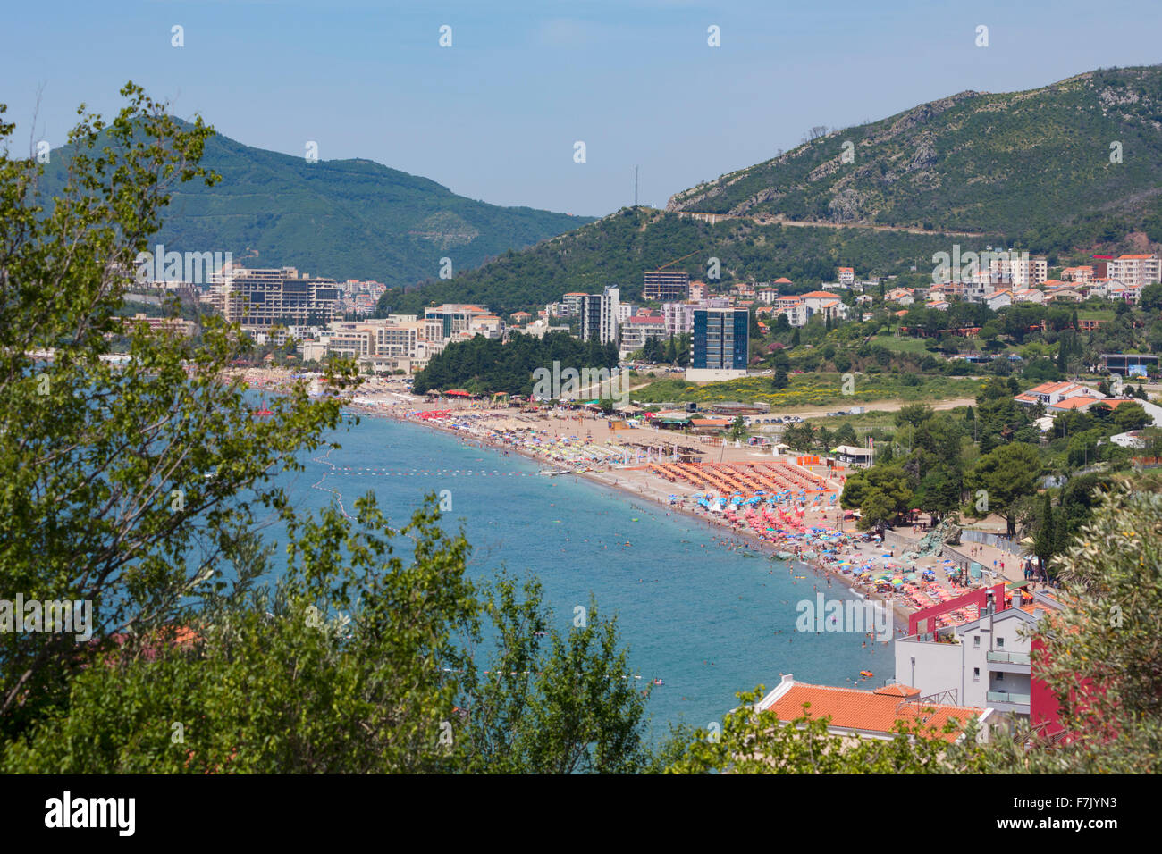 Bicici, Montenegro.  Known as the Budva Riviera. - Stock Image