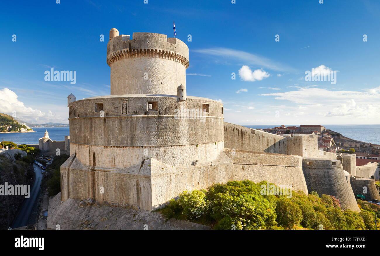 Dubrovnik, St John's Fortress, Croatia - Stock Image