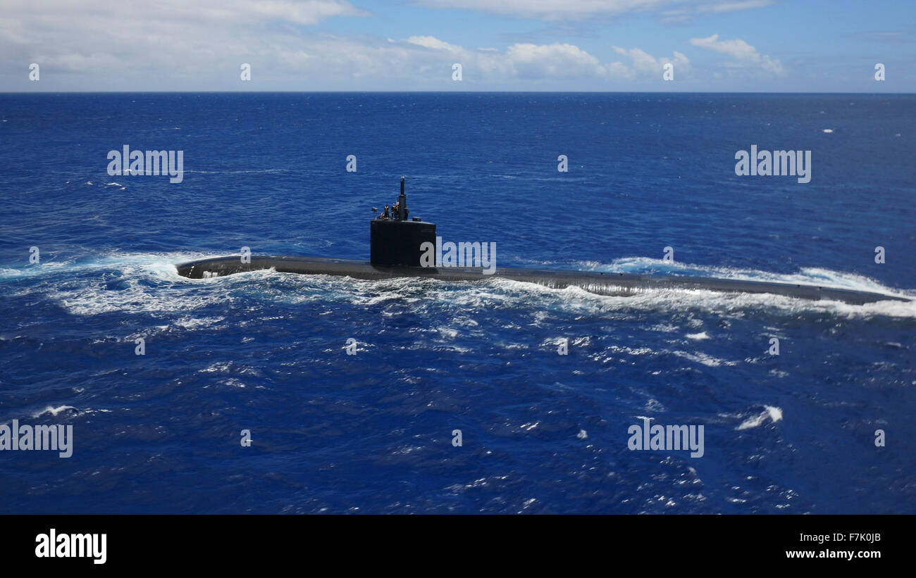 Nuclear submarine, Oahu, Hawaii - Stock Image