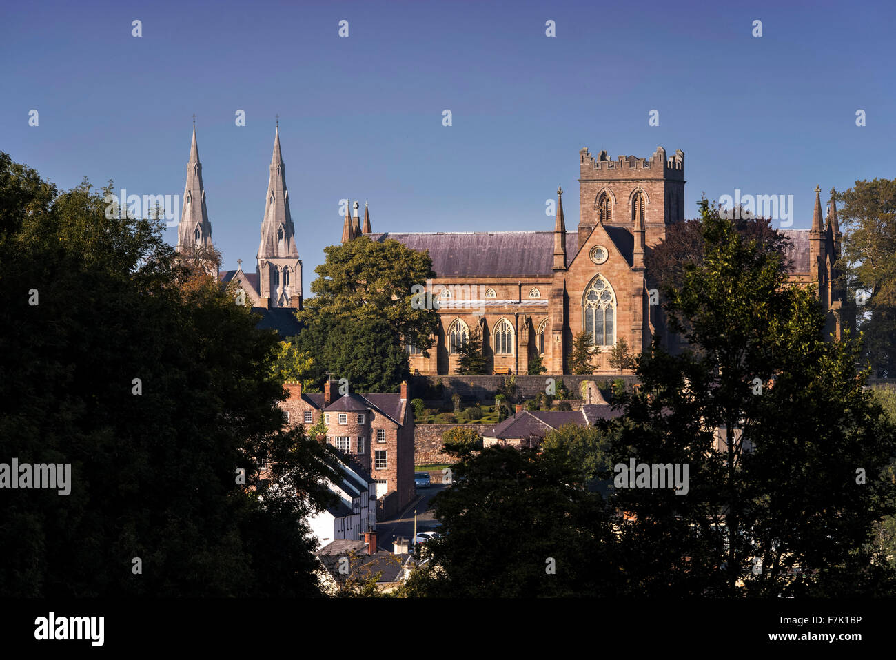St Patrick's Cathedrals in Armagh City, Northern Ireland - Stock Image
