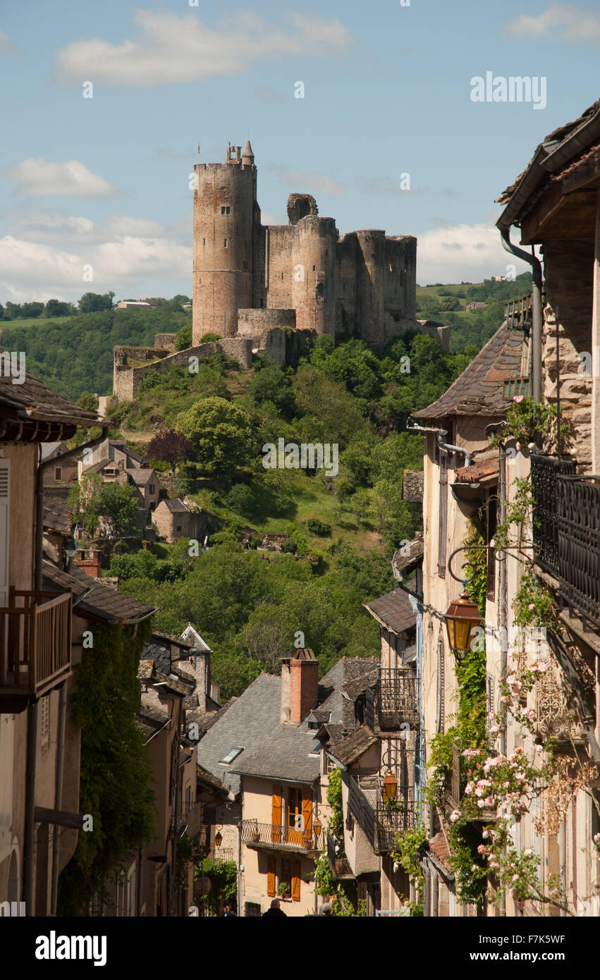 Najac, Aveyron, France - Stock Image