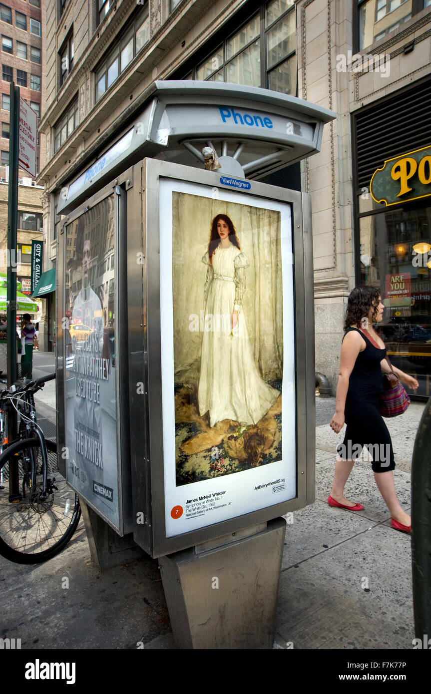 James McNeil Whistler painting on outdoor advertising panel for Art Everywhere project in  New York - Stock Image