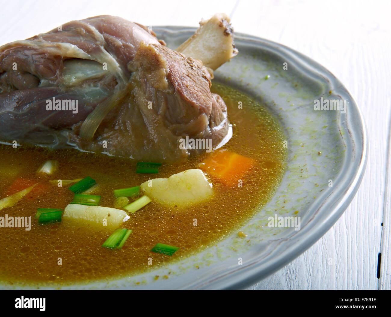 Aatu Kaal Kulambu -  Mutton Leg Curry - Stock Image