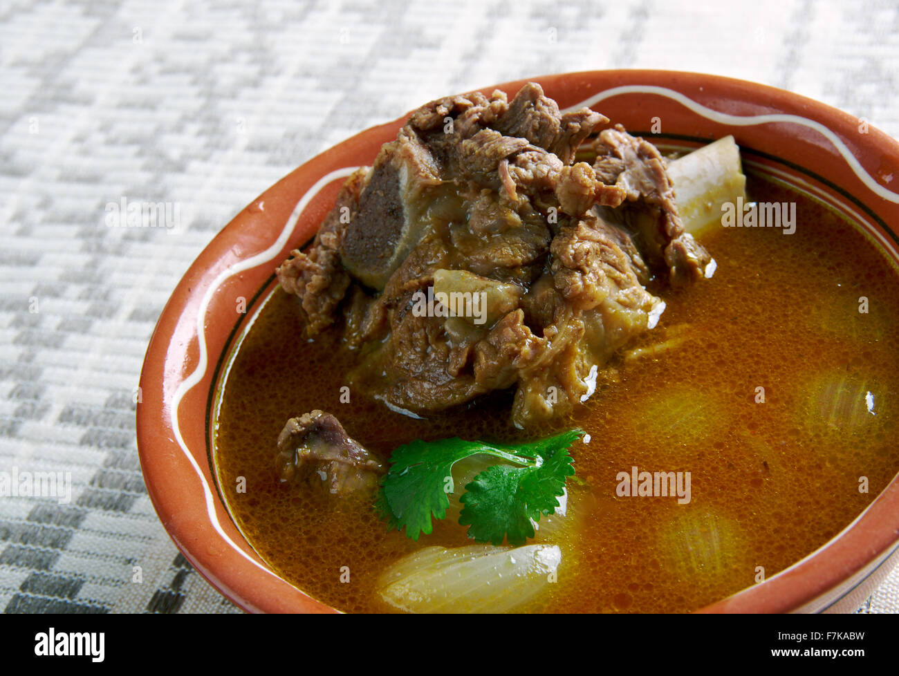 Mutton Paya - traditional South Asian food.cooked with various spices. - Stock Image