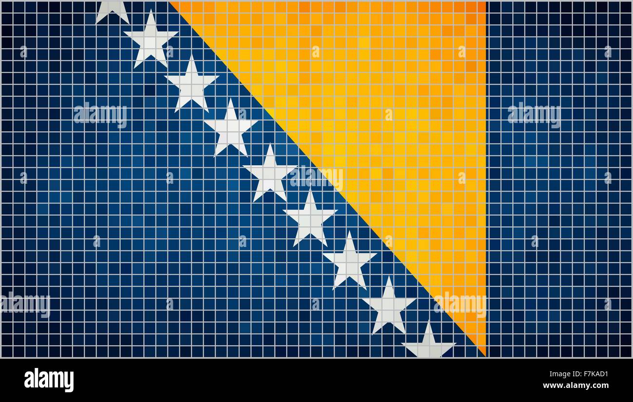 Flag of Bosnia and Herzegovina - Stock Vector