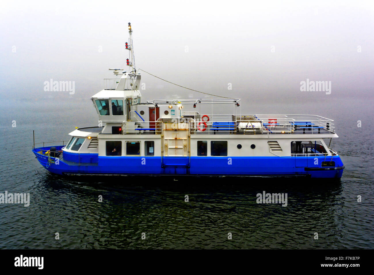 Spirit of the Tyne ferry boat on River Tyne between North Shields and South Shields Stock Photo