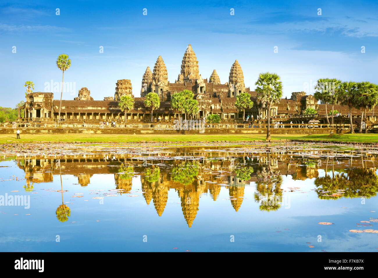 Angkor Wat Temple, Cambodia, Asia (UNESCO) Stock Photo