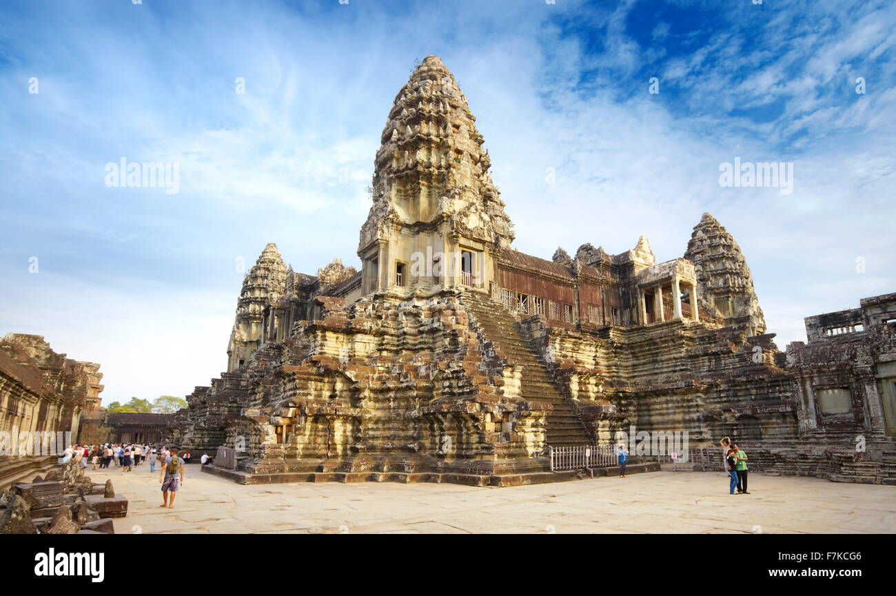 Angkor Wat Temple, Cambodia, Asia (UNESCO) - Stock Image