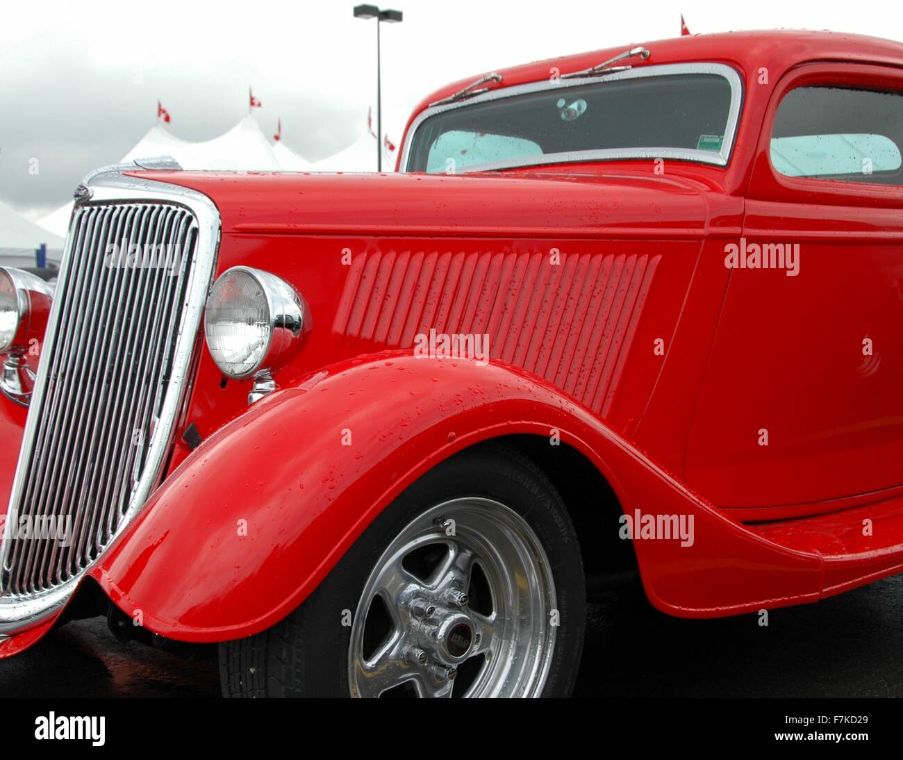 A 1934 Ford Tudor waits for auction. - Stock Image