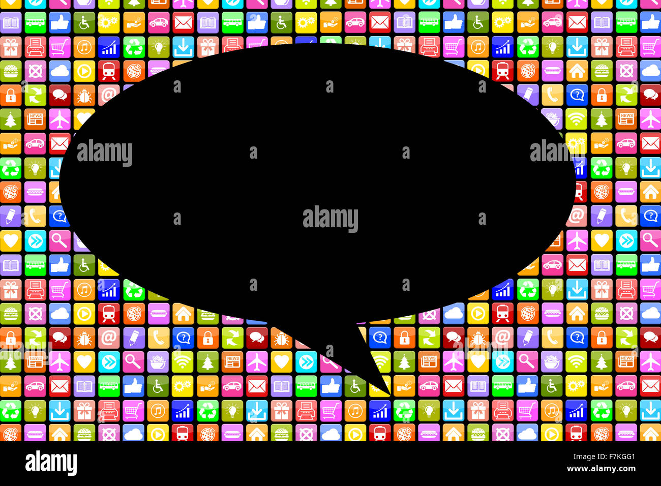 Application Apps App social media network chat chatting communication on mobile or smart phone - Stock Image