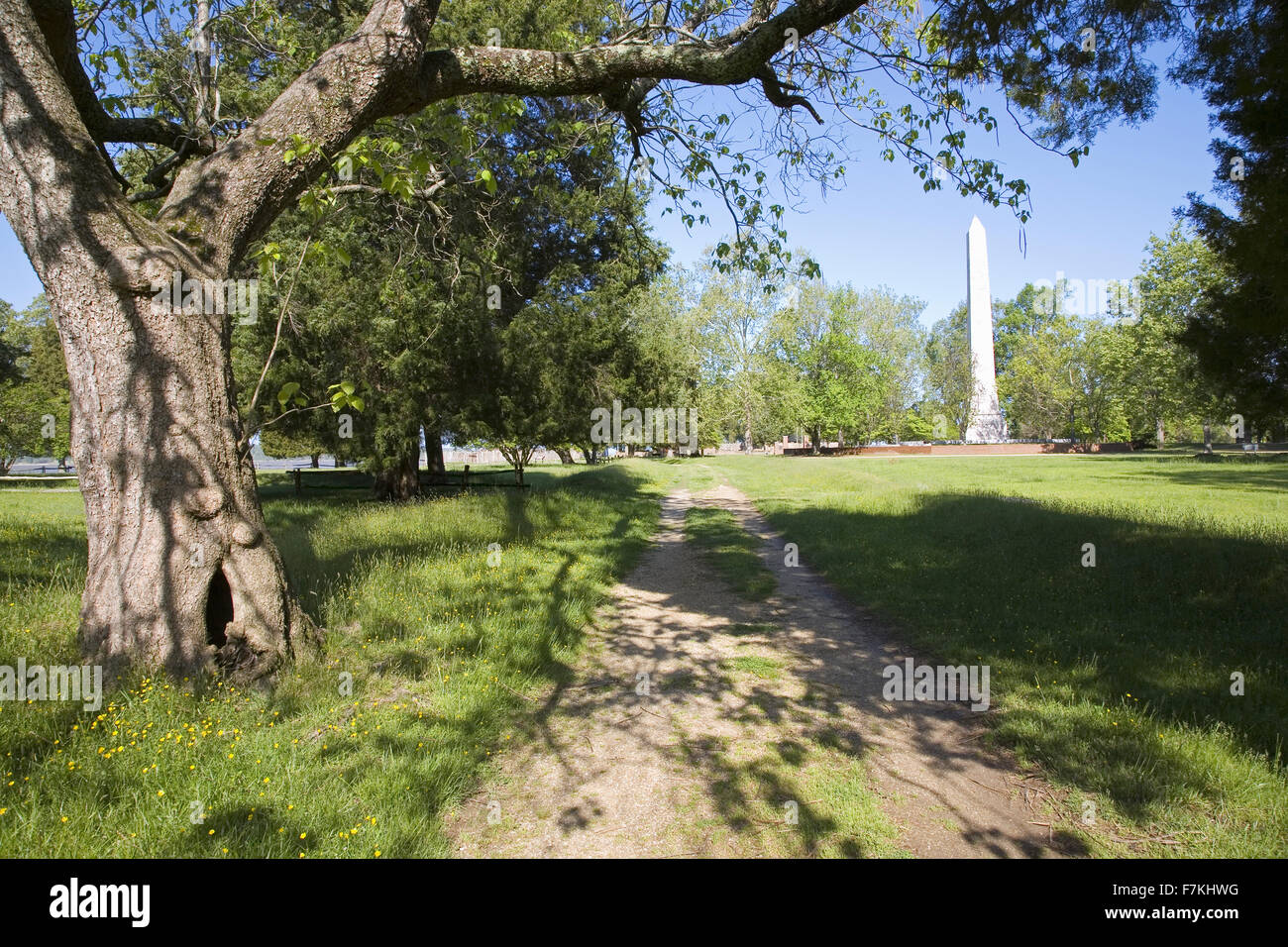 Pathway of New Towne of Jamestown, Jamestown Island, America's Birthplace, Virginia, built after 1620, the very Stock Photo
