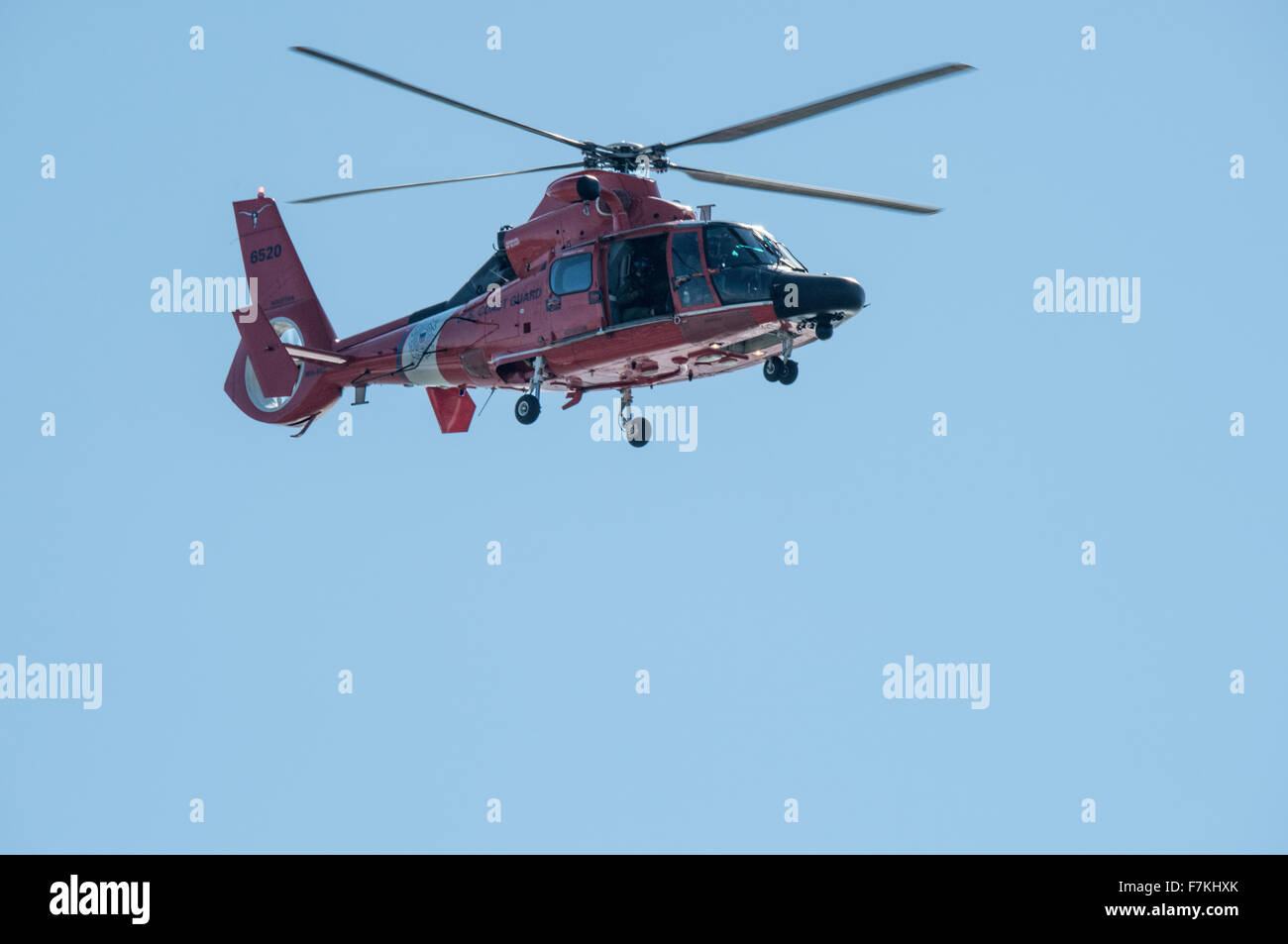 Coast Guard helicopter - Stock Image