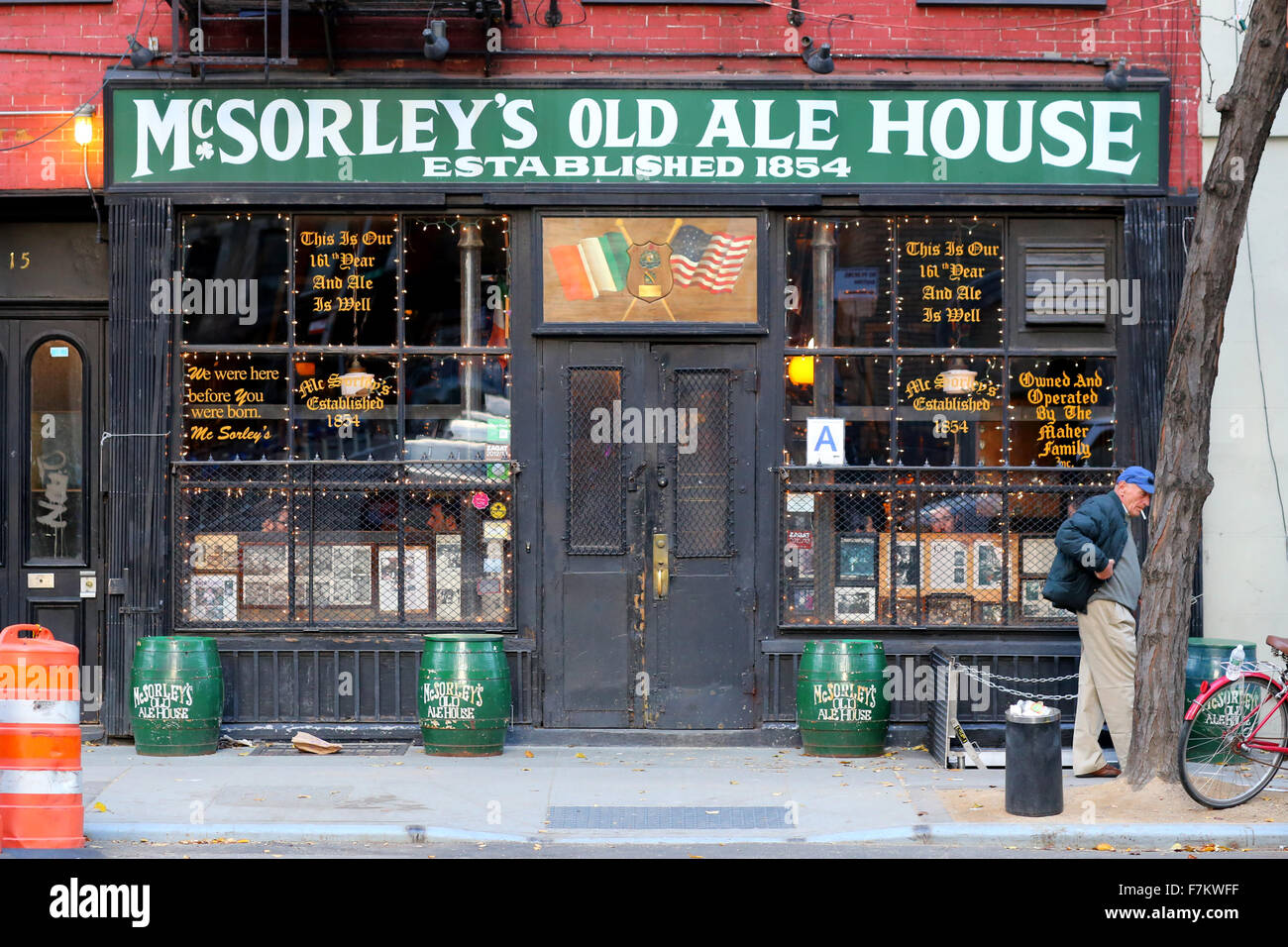 McSorley's Old Ale House, 15 East 7th St, NYC - Stock Image