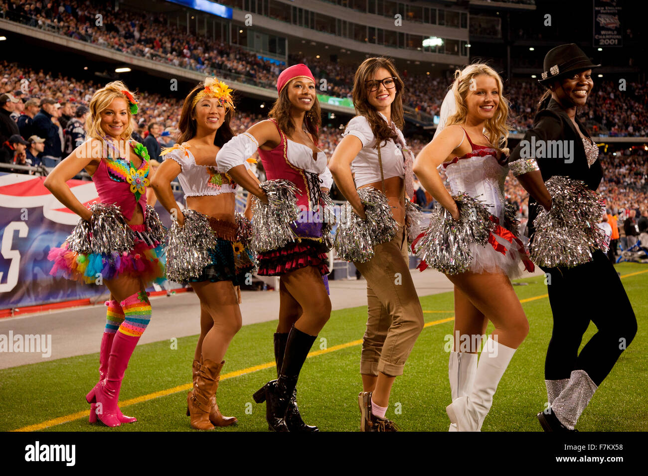 New England Patriot cheerleaders in Halloween costume at Gillette Stadium the home of Super Bowl ch&s New England Patriots NFL Team play against Dallas ...  sc 1 st  Alamy & New England Patriot cheerleaders in Halloween costume at Gillette ...