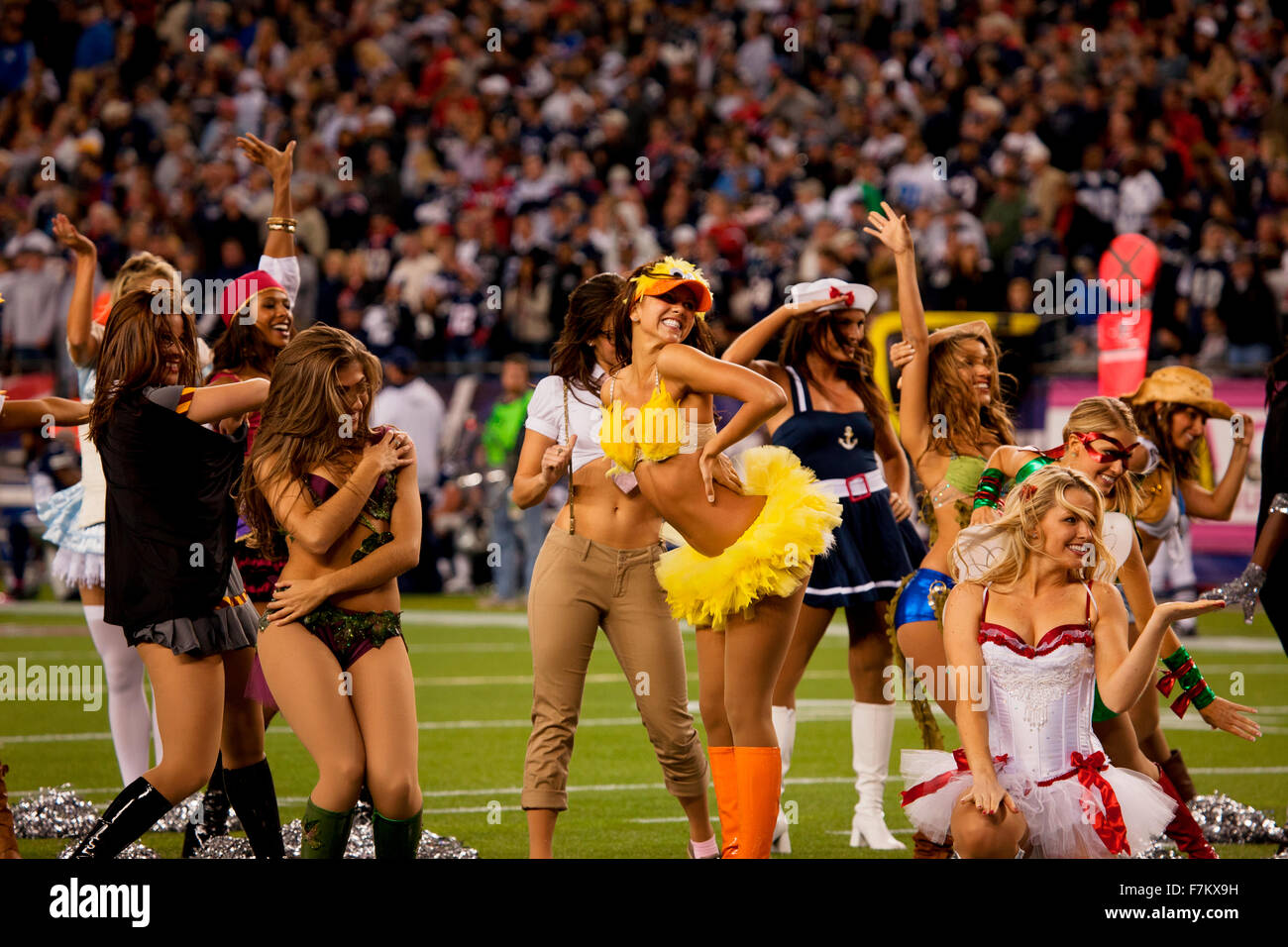 New England Patriot cheerleaders in Halloween costume at Gillette Stadium the home of Super Bowl  sc 1 st  Alamy & Dallas Cowboys Cheerleaders Stock Photos u0026 Dallas Cowboys ...
