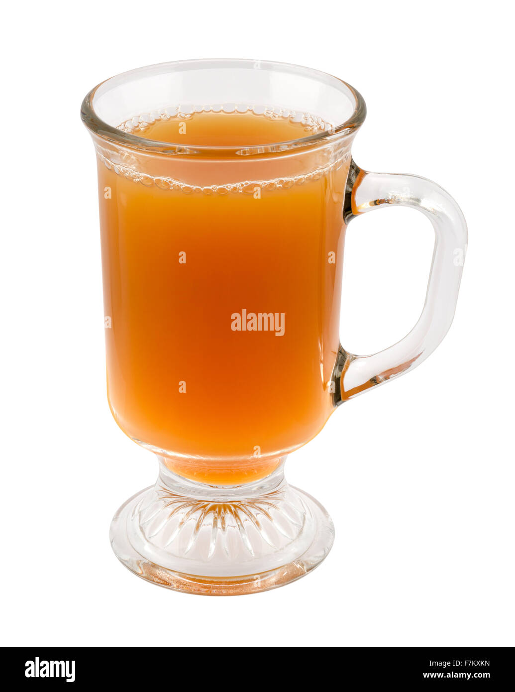 Apple Cider in a Glass Mug - Stock Image